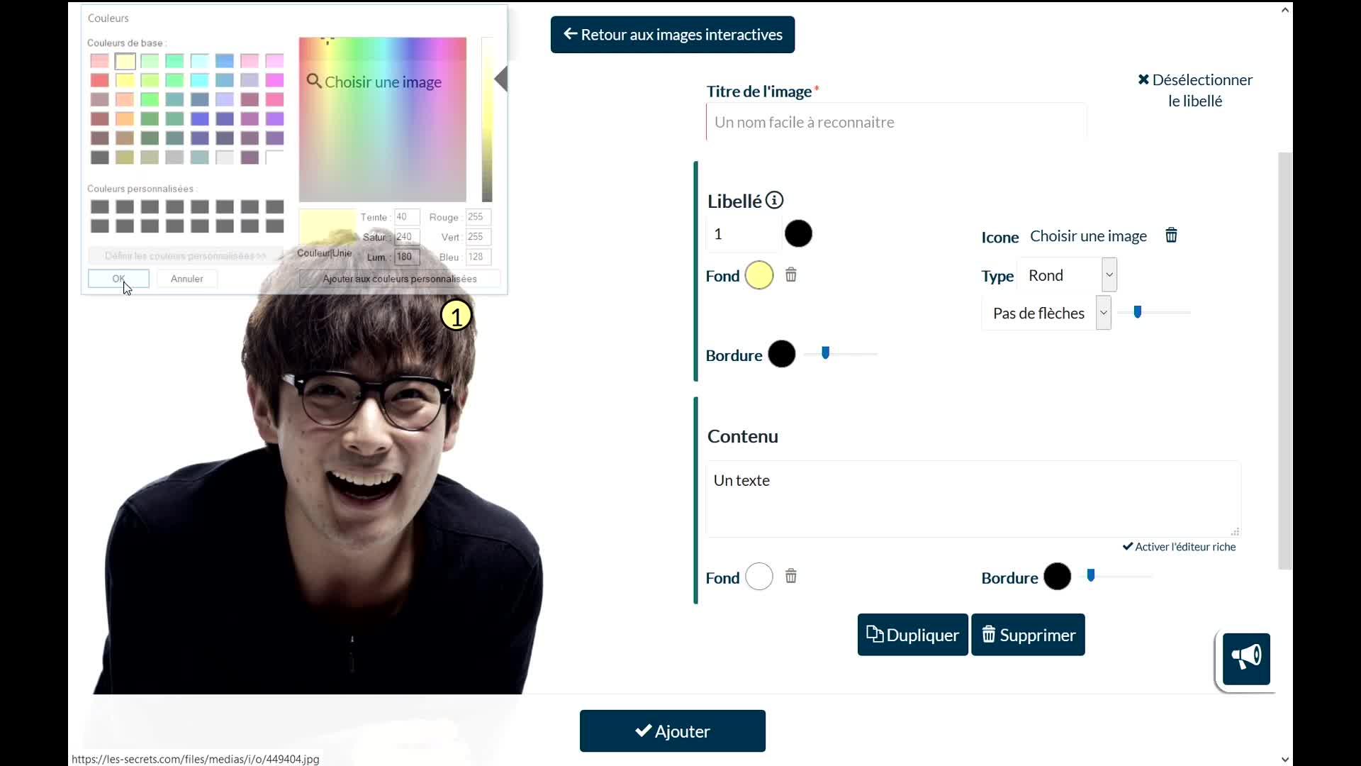 Vignette de [Développement] Des images interactives et des icônes personnalisables